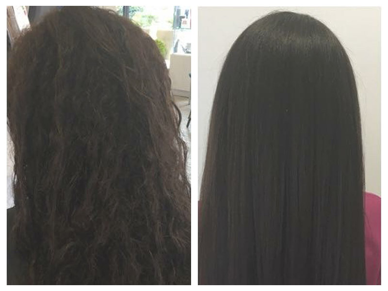 Brazilian Blowout Straightening