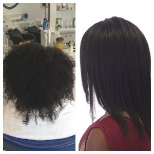 Kinna Dry Bar hair straightening
