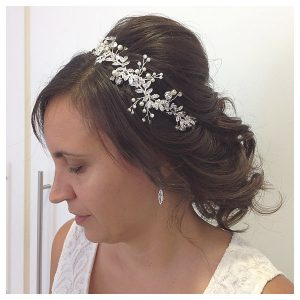 Kinna Blow Dry Bar bridal hair styling